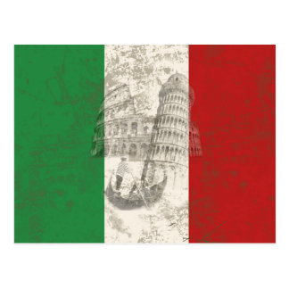 Flag and Symbols of Italy ID157 Postcard
