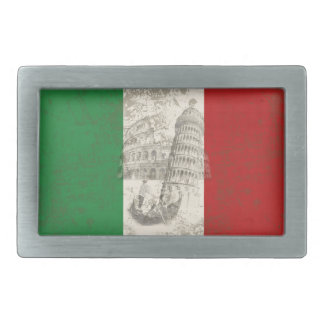 Flag and Symbols of Italy ID157 Rectangular Belt Buckle
