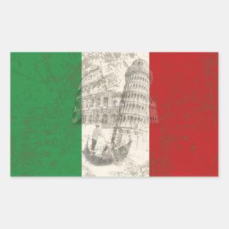 Flag and Symbols of Italy ID157 Rectangular Sticker