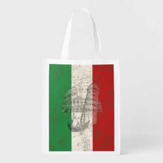 Flag and Symbols of Italy ID157 Reusable Grocery Bag
