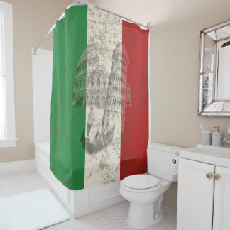 Flag and Symbols of Italy ID157 Shower Curtain