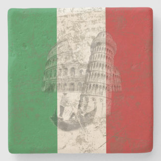 Flag and Symbols of Italy ID157 Stone Coaster