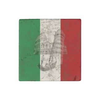Flag and Symbols of Italy ID157 Stone Magnet