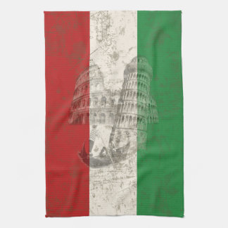 Flag and Symbols of Italy ID157 Tea Towel