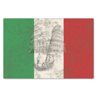 Flag and Symbols of Italy ID157 Tissue Paper