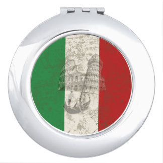 Flag and Symbols of Italy ID157 Vanity Mirror