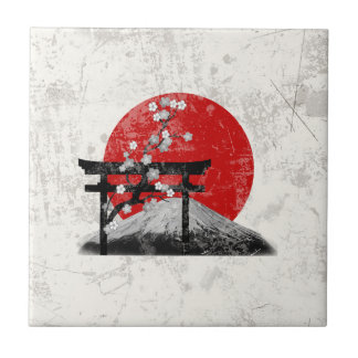 Flag and Symbols of Japan ID153 Ceramic Tile