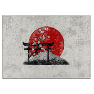 Flag and Symbols of Japan ID153 Cutting Board