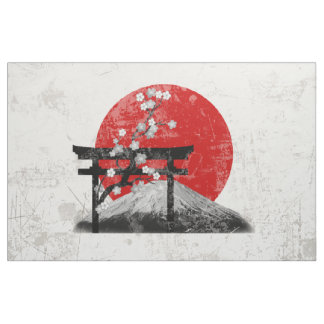 Flag and Symbols of Japan ID153 Fabric