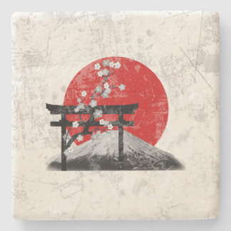 Flag and Symbols of Japan ID153 Stone Coaster