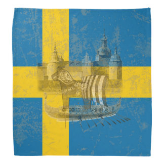 Flag and Symbols of Sweden ID159 Bandana