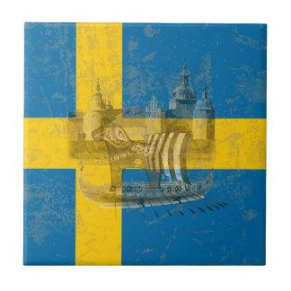 Flag and Symbols of Sweden ID159 Ceramic Tile