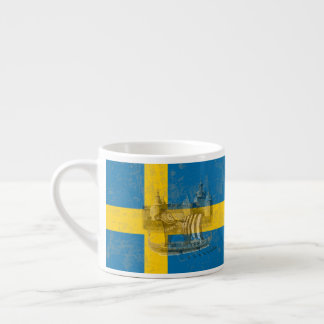 Flag and Symbols of Sweden ID159 Espresso Cup