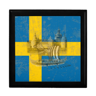 Flag and Symbols of Sweden ID159 Gift Box