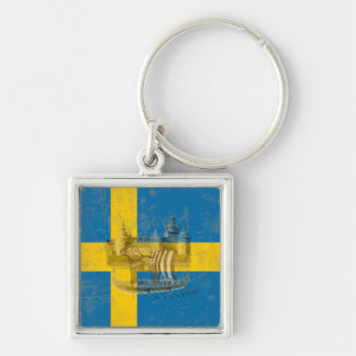 Flag and Symbols of Sweden ID159 Key Ring