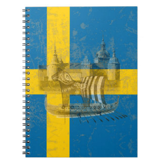 Flag and Symbols of Sweden ID159 Notebook