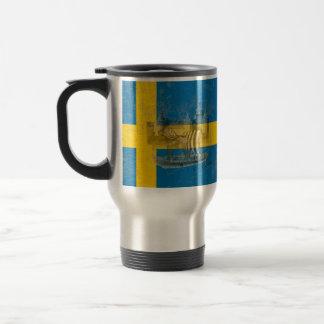 Flag and Symbols of Sweden ID159 Travel Mug