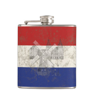 Flag and Symbols of the Netherlands ID151 Hip Flask