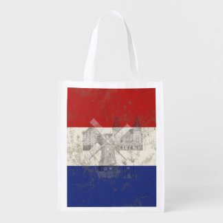 Flag and Symbols of the Netherlands ID151 Reusable Grocery Bag