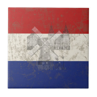 Flag and Symbols of the Netherlands ID151 Tile