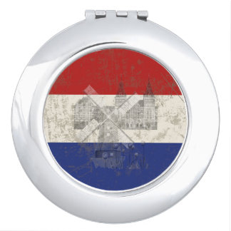 Flag and Symbols of the Netherlands ID151 Travel Mirrors