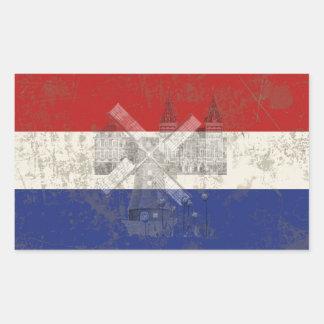 Flag and Symbols of the Netherlands Rectangular Sticker