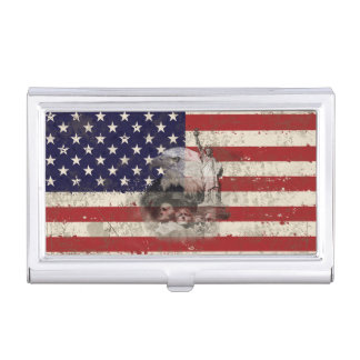 Flag and Symbols of United States Business Card Holder