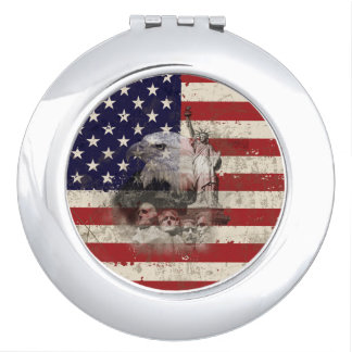 Flag and Symbols of United States ID155 Compact Mirrors