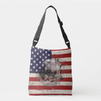 Flag and Symbols of United States ID155 Crossbody Bag