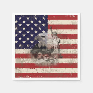 Flag and Symbols of United States ID155 Disposable Serviette