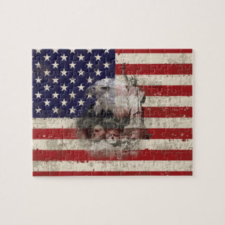 Flag and Symbols of United States ID155 Jigsaw Puzzle