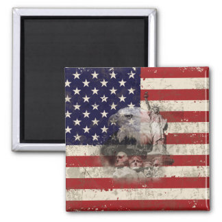 Flag and Symbols of United States ID155 Magnet