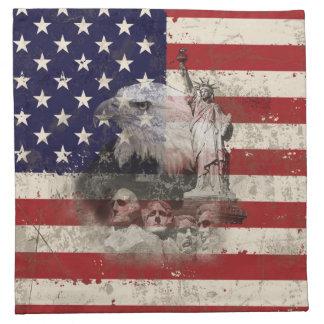 Flag and Symbols of United States ID155 Napkin