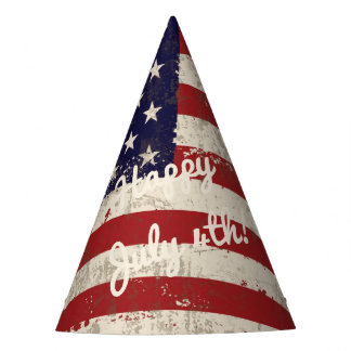 Flag and Symbols of United States ID155 Party Hat