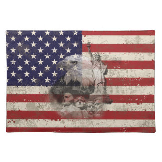 Flag and Symbols of United States ID155 Placemat
