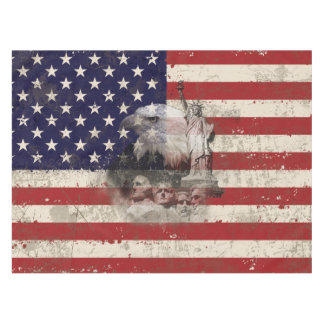 Flag and Symbols of United States ID155 Tablecloth