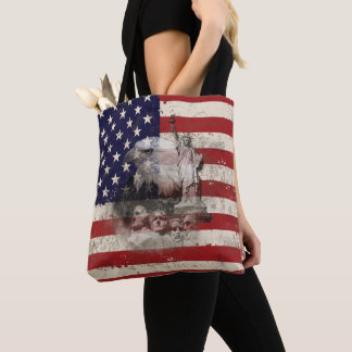 Flag and Symbols of United States ID155 Tote Bag