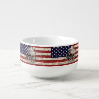 Flag and Symbols of United States Soup Mug