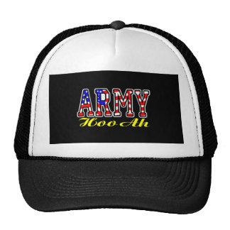 Flag Army Hooah Black Hat