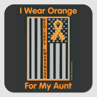 Flag/Aunt...RSD/CRPS Square Sticker