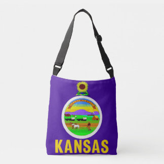 Flag Bag, Kansas Crossbody Bag