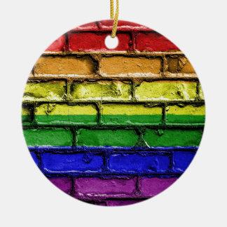 Flag Banner Gay LGBT Ceramic Ornament