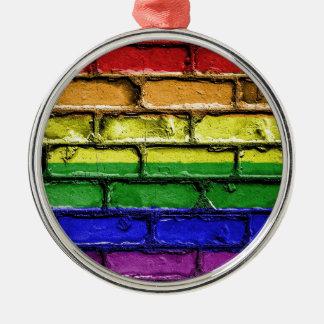 Flag Banner Gay LGBT Metal Ornament