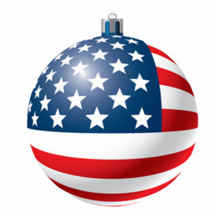Flag bauble ornament photo sculpture decoration
