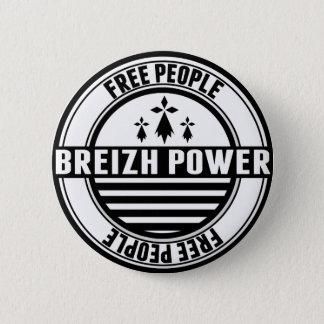 flag Breton Breizh Brittany free people 6 Cm Round Badge
