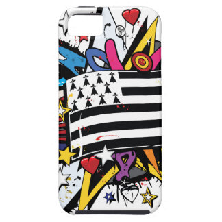 Flag Brittany Breizh Breton graffiti graff iPhone 5 Cover