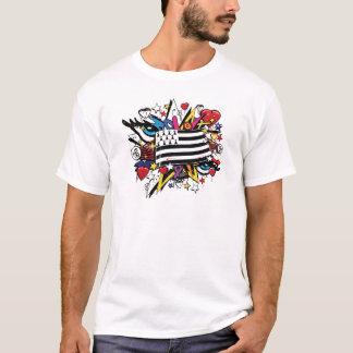 Flag Brittany Breizh Breton graffiti graff T-Shirt