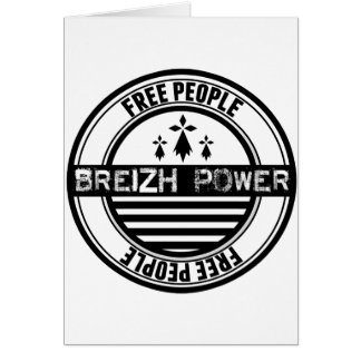 Flag Brittany Breizh free people Card