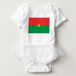 flag_burkina_farso baby bodysuit