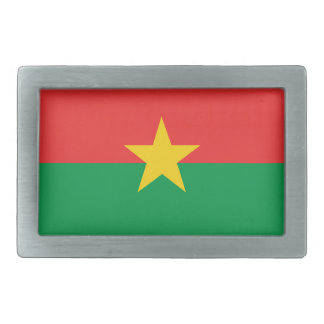flag_burkina_farso rectangular belt buckles